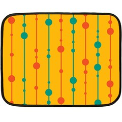 Yellow, Green And Red Pattern Fleece Blanket (mini) by Valentinaart