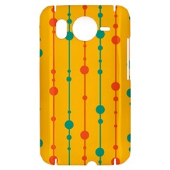 Yellow, green and red pattern HTC Desire HD Hardshell Case