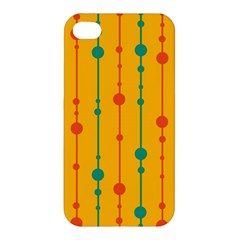 Yellow, Green And Red Pattern Apple Iphone 4/4s Premium Hardshell Case by Valentinaart