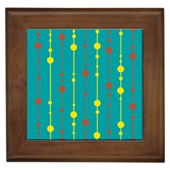 Green, Yellow And Red Pattern Framed Tiles by Valentinaart