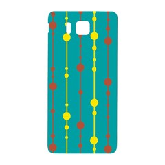 Green, Yellow And Red Pattern Samsung Galaxy Alpha Hardshell Back Case by Valentinaart