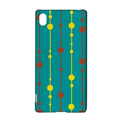 Green, Yellow And Red Pattern Sony Xperia Z3+ by Valentinaart