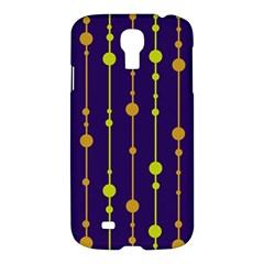 Deep Blue, Orange And Yellow Pattern Samsung Galaxy S4 I9500/i9505 Hardshell Case by Valentinaart