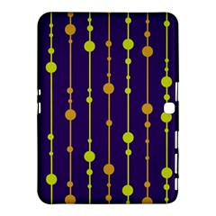 Deep Blue, Orange And Yellow Pattern Samsung Galaxy Tab 4 (10 1 ) Hardshell Case  by Valentinaart