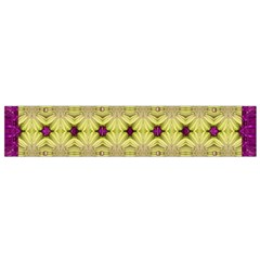 Purple Gold Floral And Paradise Bloom Flano Scarf (small) by pepitasart