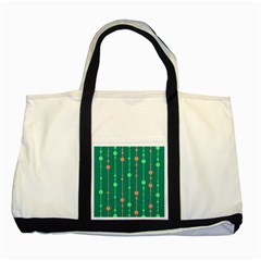 Green Pattern Two Tone Tote Bag by Valentinaart
