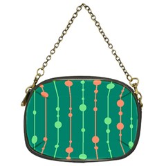 Green pattern Chain Purses (One Side)  by Valentinaart