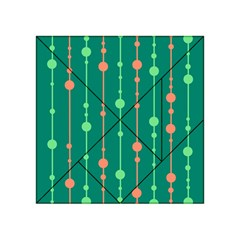 Green pattern Acrylic Tangram Puzzle (4  x 4 ) by Valentinaart
