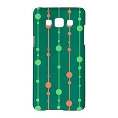 Green Pattern Samsung Galaxy A5 Hardshell Case  by Valentinaart