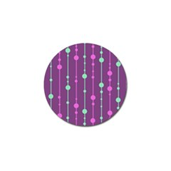 Purple And Green Pattern Golf Ball Marker (10 Pack) by Valentinaart