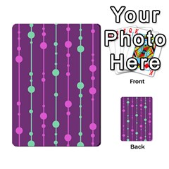 Purple And Green Pattern Multi Purpose Cards (rectangle)
