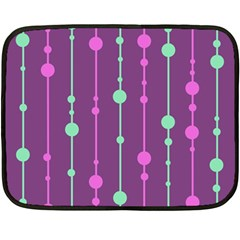 Purple And Green Pattern Fleece Blanket (mini) by Valentinaart