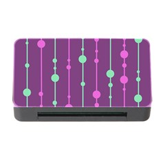 Purple And Green Pattern Memory Card Reader With Cf by Valentinaart