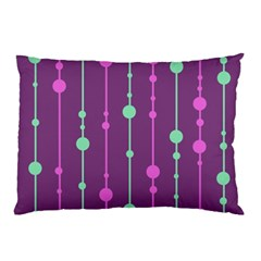 Purple And Green Pattern Pillow Case (two Sides) by Valentinaart