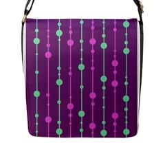 Purple And Green Pattern Flap Messenger Bag (l)  by Valentinaart
