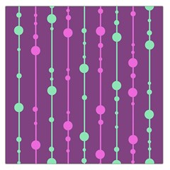 Purple And Green Pattern Large Satin Scarf (square) by Valentinaart