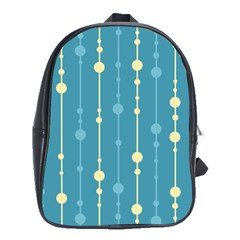 Blue Pattern School Bags(large)  by Valentinaart