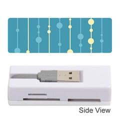 Blue Pattern Memory Card Reader (stick)  by Valentinaart