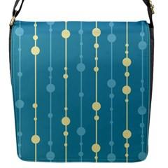 Blue Pattern Flap Messenger Bag (s) by Valentinaart