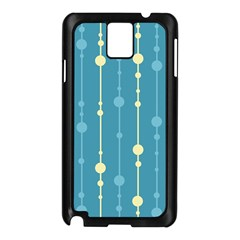 Blue Pattern Samsung Galaxy Note 3 N9005 Case (black) by Valentinaart