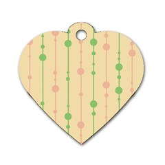 Pastel Pattern Dog Tag Heart (two Sides) by Valentinaart