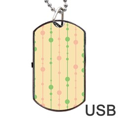 Pastel Pattern Dog Tag Usb Flash (one Side) by Valentinaart