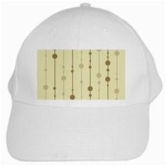 Brown Pattern White Cap by Valentinaart