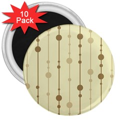 Brown Pattern 3  Magnets (10 Pack)  by Valentinaart