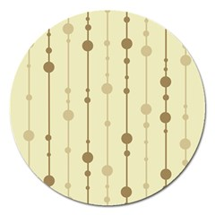Brown Pattern Magnet 5  (round) by Valentinaart