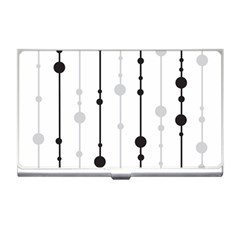 Black And White Elegant Pattern Business Card Holders by Valentinaart