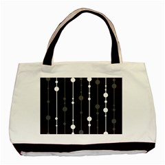 Black And White Pattern Basic Tote Bag (two Sides) by Valentinaart