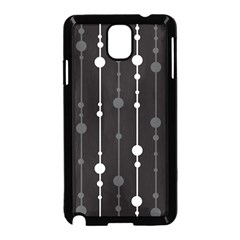 Black And White Pattern Samsung Galaxy Note 3 Neo Hardshell Case (black) by Valentinaart