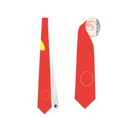 Red and yellow dragonflies pattern Neckties (Two Side)  by Valentinaart