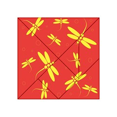 Red And Yellow Dragonflies Pattern Acrylic Tangram Puzzle (4  X 4 ) by Valentinaart