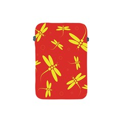 Red And Yellow Dragonflies Pattern Apple Ipad Mini Protective Soft Cases by Valentinaart