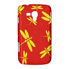 Red and yellow dragonflies pattern Samsung Galaxy Duos I8262 Hardshell Case  by Valentinaart