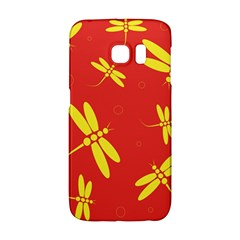 Red And Yellow Dragonflies Pattern Galaxy S6 Edge by Valentinaart
