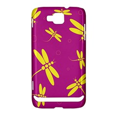 Purple and yellow dragonflies pattern Samsung Ativ S i8750 Hardshell Case by Valentinaart