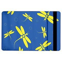 Blue And Yellow Dragonflies Pattern Ipad Air 2 Flip by Valentinaart