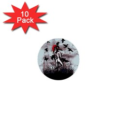 Dancing With Crows 1  Mini Buttons (10 Pack)  by lvbart