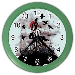 Dancing With Crows Color Wall Clocks by lvbart