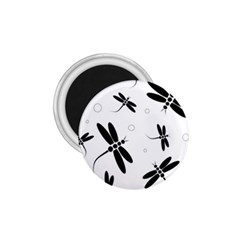Black And White Dragonflies 1 75  Magnets by Valentinaart