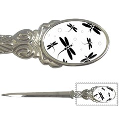 Black And White Dragonflies Letter Openers by Valentinaart