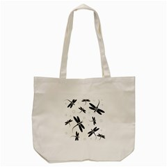 Black And White Dragonflies Tote Bag (cream) by Valentinaart