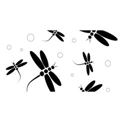 Black And White Dragonflies You Are Invited 3d Greeting Card (8x4)  by Valentinaart