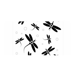 Black And White Dragonflies Satin Wrap by Valentinaart