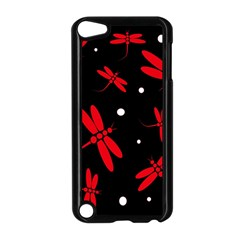 Red, Black And White Dragonflies Apple Ipod Touch 5 Case (black) by Valentinaart