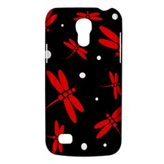 Red, Black And White Dragonflies Galaxy S4 Mini by Valentinaart