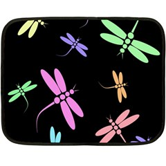 Pastel Dragonflies Fleece Blanket (mini) by Valentinaart