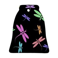 Pastel Dragonflies Ornament (bell)  by Valentinaart
